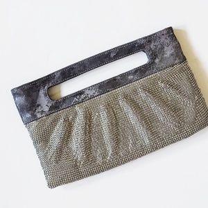 Bcbgmaxazaria chainmail snakeskin clutch purse